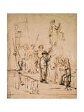 Susanna Brought to Judgement  17th Century