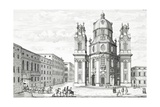 Church of Notre Dame  Salzburg  Austria  from 'Entwurf Einer Historischen Architecktur'  Engraved…