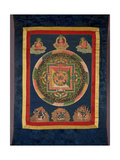 Thangka of Mandala of Chakrasamvara in Fierce Form with Red Prajna  Vajravarahi  19th-20th Century
