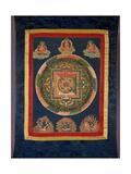 Thangka of Mandala of Chakrasamvara in Fierce Form with Red Prajna  Vajravarahi  19th-20th Century