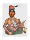 Appanoose  a Sauk Chief  1837  Illustration from 'The Indian Tribes of North America  Vol2'  by…