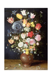 A Stoneware Vase of Flowers  C1607-8