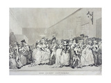 """""""Box Lobby Loungers""""  Etched by Rowlandson from a Design by Henry Wigstead (C1745-93)  Pub by…"""