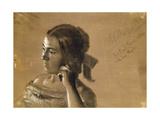 Study for a Portrait of Mrs Von Maercker  1846