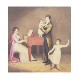 Charles Moran and His Wife Jane Bodin with Jane and William  1812
