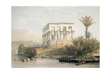 The Hypaethral Temple at Philae  Called the Bed of Pharaoh  Engraved by Louis Haghe  Pub in 1843