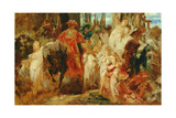Study for the Entrance of Emperor Charles V (1500-58) into Antwerp in 1520  1876-77