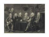 Benn's Club of Aldermen  Engraved by J Faber