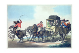 """English Travelling  or the First Stage from Dover""  Aquatinted by Francis Jukes (1747-1812) …"