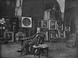 Frederic Leighton  Portrait Photograph by JP Mayall in the 'Artists at Home' Series  1884