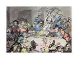 """A Kick Up at a Hazard Table""  Pub by J Harris  1787"
