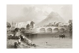 Ballina  County Mayo  from 'scenery and Antiquities of Ireland' by George Virtue  1860s