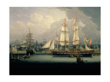 Four-Masted Clipper Ship in Liverpool Harbour  C1810