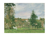 Landscape with a White Horse in a Field  L'Ermitage  1872
