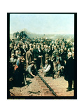 Last Spike  Union Pacific Railway  Promontory Point  Utah  May 10th  1869
