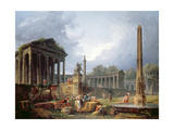 Architectural Capriccio with Obelisk  1768