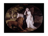Una and the Lion (Isabella Saltonstall as Una in Spenser's 'Faerie Queene')  1782