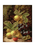 Still Life with Apples  Grapes  Strawberry and Gooseberry