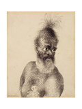 Head of a Maori Man  C1775