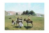 Donkey Ride at La Roche-Guyon  C1864-65
