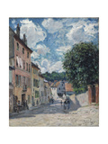 A Street  Possibly in Port-Marly  1876
