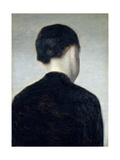 Seated Figure  Seen from Behind (Anna Hammershoi) 1884