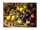 Still Life with Apples  Plums  Grapes and Raspberries