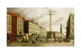 The Monument and Fish Street Hill  1755