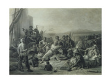Scene on the Coast of Africa  Engraved by Wagstaff  London  1844