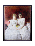 Portrait of Marthe and Terese Galoppe  1889