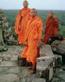 Buddhist Monks Amongst the Ruins of the Ancient City