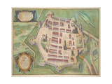 Map of Zamosc  from 'Civitates Orbis Terrarum' by Georg Braun (1541-1622) and Frans Hogenberg…