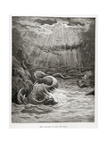 The Creation of Fish and Birds  from Paradise Lost by John Milton (1608-74) Engraved by Collon…