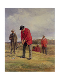 George Glennie Putting at Blackheath with Putting Cleek  1881