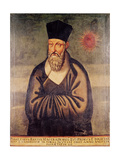 Portrait of Matteo Ricci (1552-1610) Italian Missionary  Founder of the Jesuit Mission in China