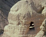View of the Qumran Caves  Where the Dead Sea Scrolls Were Discovered in 1947