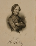 Portrait and Signature of Hector Berlioz (1803-69)