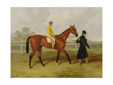 Sir Tatton Sykes (1772-1863) Leading in the Horse 'sir Tatton Sykes'  with William Scott Up  1846