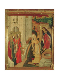 Jesus and the Women of Samaria  from the Altarpiece of the Transfiguration  Pradella Panel  1445-52