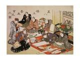 Painting and Calligraphy Party at the Manpachiro Teahouse  1827