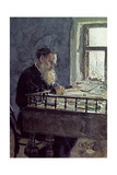 Lev Tolstoy (1828-1910) at Work  1893
