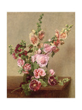 Hollyhocks  1889
