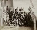 Cargo of Newly Released Slaves on Board Hms London  C1880
