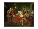 Conversation Piece: Sir Francis Dashwood (1708-81)  Lord Boyne and Friends