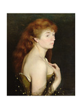 Portrait of a Young Red Haired Woman  1889