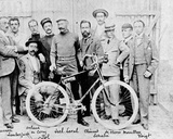 The Racing Cyclist Jiel-Laval with His Bicycle 'Clement'  2nd in the Race Paris-Brest  1891