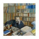 Portrait of Edmond Duranty, 1879 Giclée par Edgar Degas