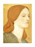 No1575 Head of a Girl in a Green Dress (Elizabeth Siddal)  1850-65