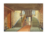 The Staircase  from Views of the Royal Pavilion  Brighton  by John Nash  1826
