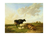 Landscape with Cows and Sheep  1850